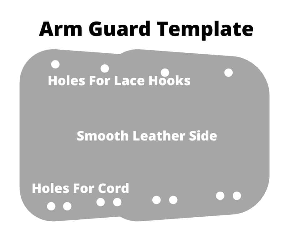 archery arm guard template